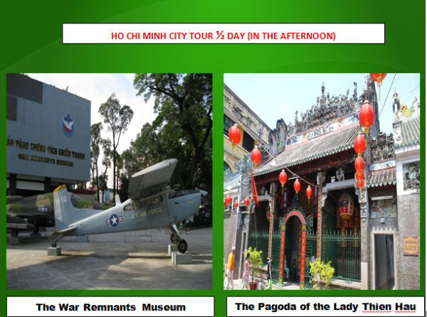 HO CHI MINH CITY TOUR 1/2 DAY ( IN THE AFTERNOON)